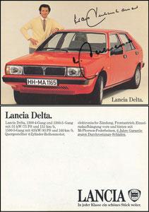 Beckenbauer, 1980, Lancia, Bildstand 'ohne Lücke zwischen unterem Rand und Reifen', mit Druck-AG