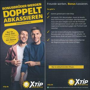 Podolski, 2018, X-Tip 'Bonusbrüder werden - Dopelt abkassieren'