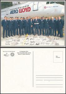 Mannschaftskarte 2001, 'Aero Lloyd'