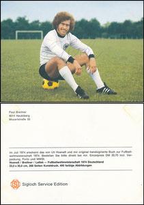 Breitner, 1974, Sigloch, Rückseite mit Werbetext