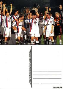 Fan Shop, Postkarte, '1996, Uefa-Pokalsieger', Dank an SF Sven