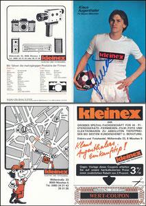 Augenthaler, 1981, Kleinex, Klappkarte