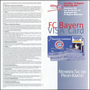 Bayerische Landesbank, 1999, Visa, Klappflyer 1, gab es nur in einer Ausgabe des Bayern Magazins