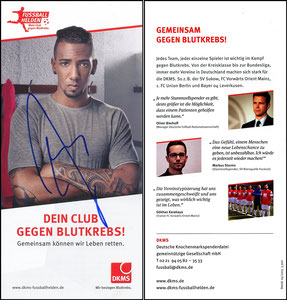 Boateng, 2015 Deutsche Knochenmarkspende, Flyer, signiert im April 2019