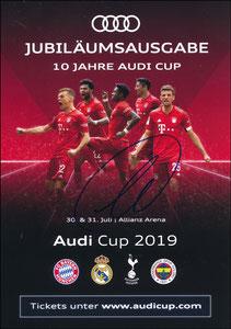 Audi, 2019, '10 Jahre Audi-Cup', sign. Müller am 22.11.2019 vor dem Abflug zum Düsseldorf-Spiel