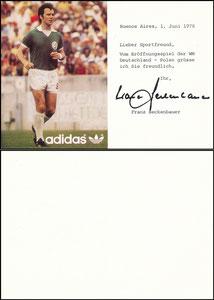 Beckenbauer, 1978, Adidas, Eröffnungsspiel WM Argentinien