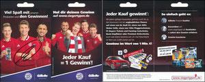 P&G, 2017, 07'2017, 'siegertypen.de', Gillette, Klappkarte, signiert Müller