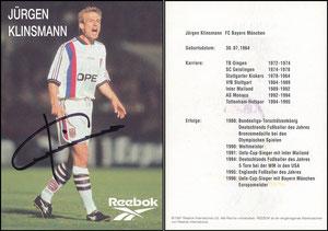 Klinsmann, 1997, Reebok, Motiv 1