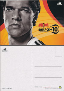 Ballack, 2006, Adidas +10, Promocard Italien