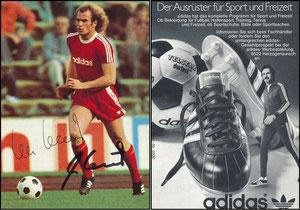 Hoeneß, 1975, Adidas 'Der Ausrüster für Sport und Freizeit'