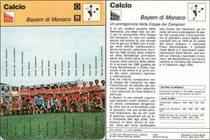 'Bayern München', Italien, 1977, 833-03, Dank an SF Hermann