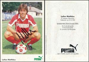 Matthäus, 1984, Puma, rücks. Druck-Nr. NA 04 050010536 3