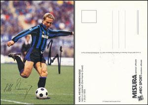 Rummenigge, 1985, Inter Mailand, Satzkarte