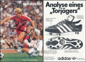Rummenigge, 1980, Adidas 'Analyse eines Torjägers', Motiv 2