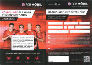 Bayern München, 2017, FCB Mobil, PrePaid-Karte, 'Gewinn Achtelfinale CL London', Dank an SF Robert