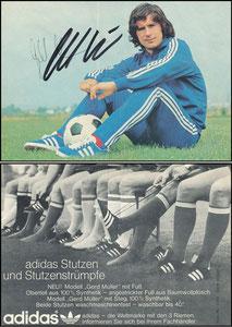 Müller, Gerd, 1975, Adidas 'Alles von Adidas 'Stutzen', mit Druck-AG