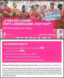 Telekom, 2014, 'Stern des Südens', Dank an SF Robert