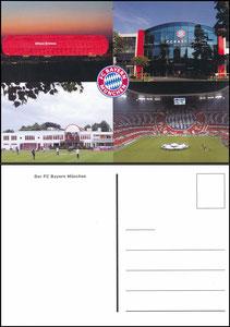 Allianz Arena, 2013, FanShop Postkarte, 4er Motive FC Bayern