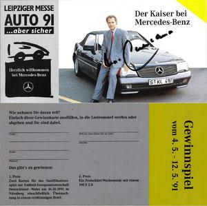 Beckenbauer, 1991, Mercedes-Benz, Leipziger Auto-Messe, Dank an SF Norbert