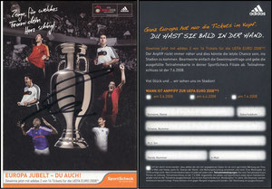 DFB, 2008, Adidas, SportScheck, signiert Ballack