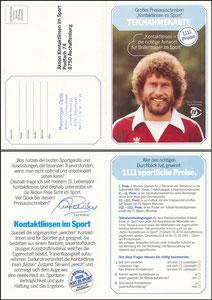 Breitner, 1981, Titimus Eurocon, Klappkarte
