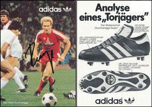 Rummenigge, 1980, Adidas 'Analyse eines Torjägers', Motiv 1