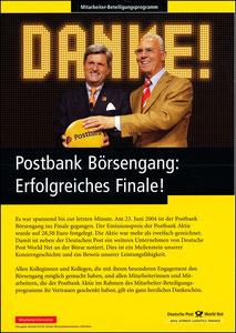 Beckenbauer, 2004, Postbank, Werbeblatt 1, A4