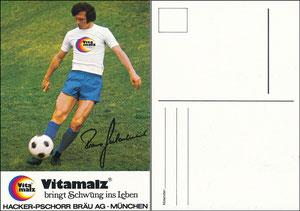 Beckenbauer, 1974, Vitamalz 'Hacker-Pschorr Bräu AG München'