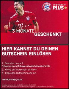 Bayern München, Bayern-TV, 2018 'Gratis-Aktion', Kleinkarte