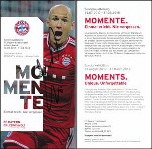 Bayern Erlebniswelt, 2017, 'Momente', Robben, signiert Robben im März 2018