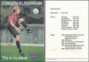 Klinsmann, 1995, Reebok, Motiv 2