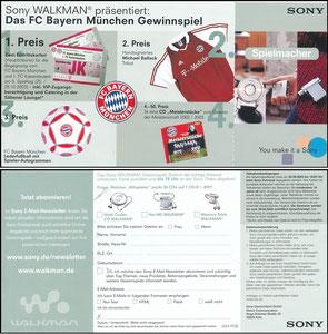 Sony, 2003, Gewinnspiel 'Walkman'