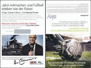 Beckenbauer, 2009, Sky, Klappkarte