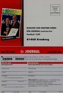 Beckenbauer, 2001, Ruschke DFB-Journal, Dank an SF Norbert