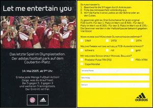 Adidas, 2005, 'letztes Spiel Olympiastadion'