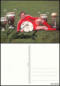 Postkarte, Fanshop, 2000er,  Schwarzenbeck mit Pokale