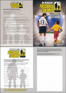 Ballack, 2005, McDonalds, 'Fußball-Eskorte', Klappkarte A5