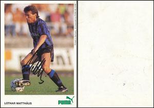Matthäus, 1988, Puma '12.88', gibt es auch mit 1990er-Druckvermerk, diese Karte GESUCHT!