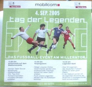 Beckenbauer, 2005, 'Tag der Legenden'