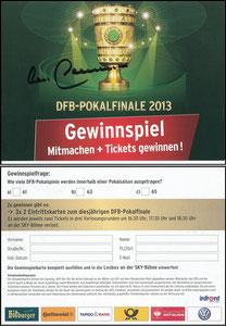 Sky, 2013, DFB-Pokalfinale, Gewinnspiel, signiert Beckenbauer
