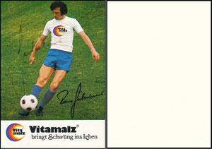 Beckenbauer, 1974, Vitamalz, Standard-Motiv, mit Druck-AG