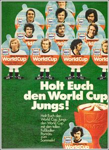 DFB, 1974, Langnese, Zeitungswerbung