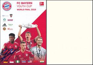 Bayern München, 2019, 'Youth Cup', sign. Neuer 28.10.2018 und Alaba am 18.01.2019