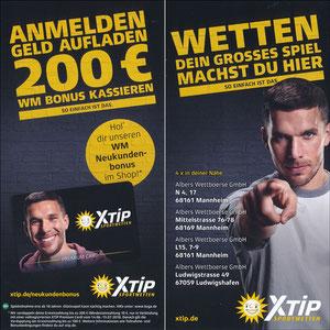 Podolski, 2018, XTip 'Anmelden - Geld aufladen - 200€ WM Bonus kassieren'
