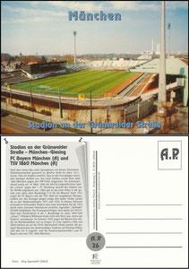 Postkarte, 2002, Grünwalder Stadion, A.P.-Karte