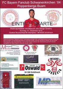 Gnabry, 2019, Weihnachtsfeier 'Fanclub Schwanenkirchen '04'