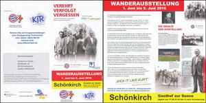 Bayern Erlebniswelt, 2016, 'Verehrt, verfolgt, vergessen', Schönkirch, Klappflyer