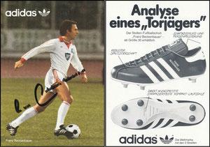 Beckenbauer, 1982, HSV, Adidas 'Analyse eines Torjägers'