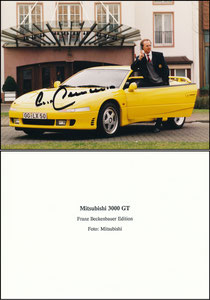 Beckenbauer, 1992, Mitzubishi, Promo-Foto Beckenbauer Sonder-Edition