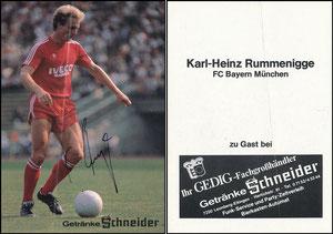 Rummenigge, 1982, Getränke Schneider